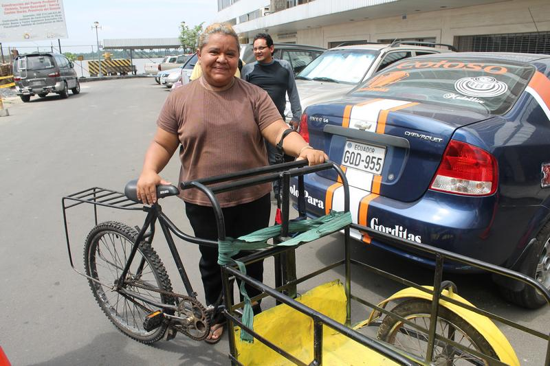 Crusade for a New Humanity Foundation donates a tricycle to Isabel Calderon