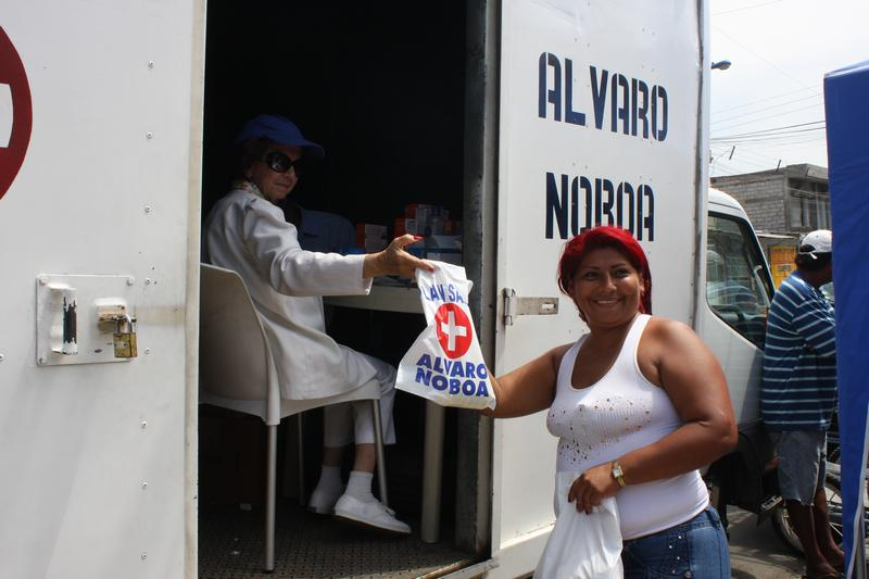 FCNH provided medical care to the Suburbio of Guayaquil