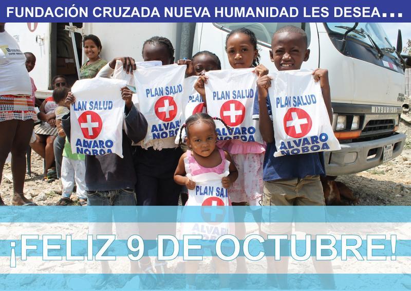 Álvaro Noboa y la FCNH les desea un feliz 9 de octubre!