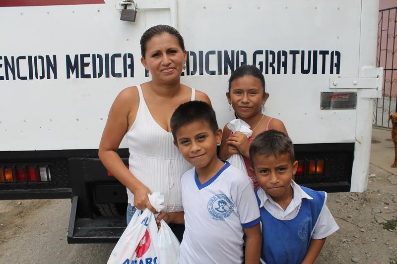 FCNH provided humanitarian aid to the Mariuxi Febres Cordero Cooperative