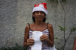 Teresa Orellana today received financial support from the New Humanity Crusade Foundation